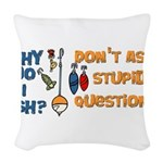 whyfish.png Woven Throw Pillow