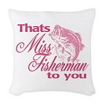 Miss Fisherman Woven Throw Pillow