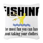 Fishing Fun Woven Throw Pillow