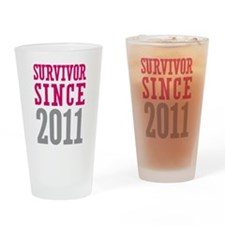 Survivor Since 2011 Drinking Glass