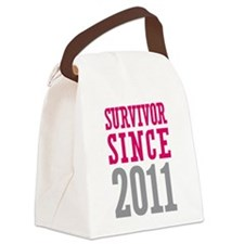 Survivor Since 2011 Canvas Lunch Bag