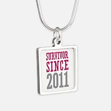 Survivor Since 2011 Silver Square Necklace
