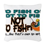 NOTTOFISH.png Woven Throw Pillow