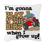 Play In The Dirt Woven Throw Pillow