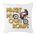 OWN ROADS.png Woven Throw Pillow