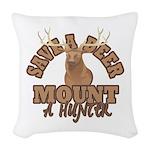 Save a Deer Woven Throw Pillow