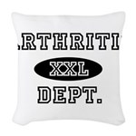ARTHRITIC Dept. Woven Throw Pillow