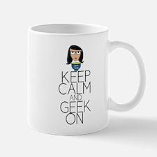 Keep Calm and Geek On Mug
