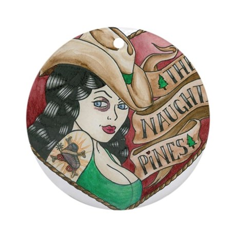 Naughty Pines Derby Dames Logo Ornament (Round)
