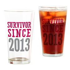 Survivor Since 2013 Drinking Glass