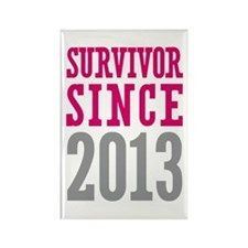 Survivor Since 2013 Rectangle Magnet (10 pack)