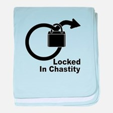 Locked in chastity baby blanket