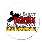Not Totally Useless - Snowmobilin Round Car Magnet