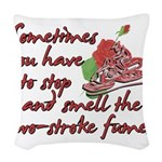 Two-Stroke Roses Woven Throw Pillow