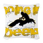 deepclock.png Woven Throw Pillow