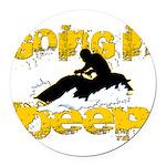 deepclock.png Round Car Magnet