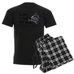 Snowmobile Threat Men's Dark Pajamas