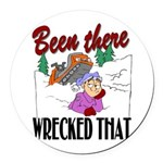 been there, wrecked that.png Round Car Magnet