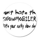 Sucky Slow Sled Round Car Magnet