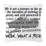 Journey to the Grave Woven Throw Pillow