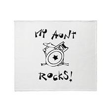 My Aunt Rocks Throw Blanket