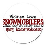 womenlove.png Round Car Magnet