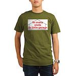 So Many Sleds Organic Men's T-Shirt (dark)