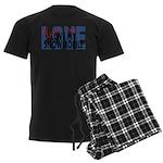 Love Me - Snowmobile Men's Dark Pajamas