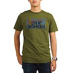 Love Me - Snowmobile Organic Men's T-Shirt (dark)