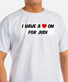 Heart on for Judi Ash Grey T-Shirt