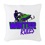 Winter Rules Woven Throw Pillow