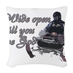 Wide Open Woven Throw Pillow