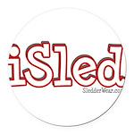 iSled Round Car Magnet