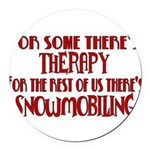 therapy.png Round Car Magnet