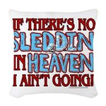 Sleddin' in Heaven Woven Throw Pillow