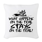 What Happens on the Trail... Woven Throw Pillow