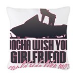 Ride like me Woven Throw Pillow