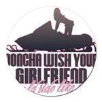 Ride like me Round Car Magnet