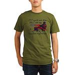 Ride Him Like My Sled Organic Men's T-Shirt (dark)