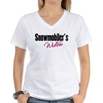snowwidow332bm.png Women's V-Neck T-Shirt