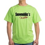 snowwidow332bm.png Green T-Shirt