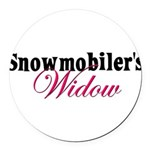 snowmobiwidow.png Round Car Magnet