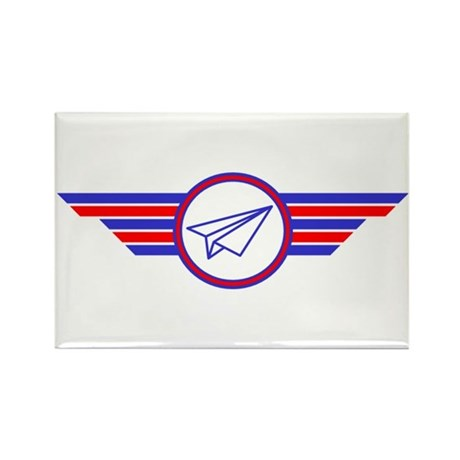 Paper Airplane Wings Rectangle Magnet (10 pack)