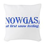 Snowgasm Woven Throw Pillow