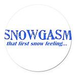 Snowgasm Round Car Magnet