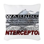 Interceptor Warning II Woven Throw Pillow