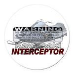 Interceptor Warning II Round Car Magnet