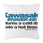 kawiinvader.png Woven Throw Pillow