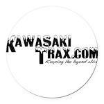 KawasakiTrax Round Car Magnet