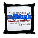 mbank.png Throw Pillow